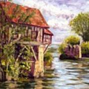 The Old Mill Of Vernon Art Print
