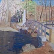 The Old North Bridge In Concord Ma Print by William Demboski