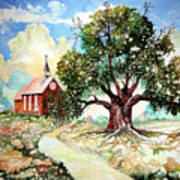 The Old Oak Church Art Print