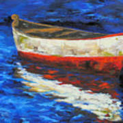 The Old Red Boat II  Art Print