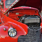 The Old Red Jalopy Art Print
