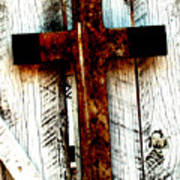 The Old Rusted Cross Art Print
