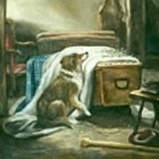 The Old Shepherd's Chief Mourner After Sir Edwin Landseer Art Print