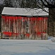 The Old Weathered Barn Art Print