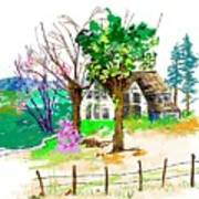 The Ole House In Spring Art Print