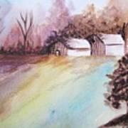 The Open Barn Door Art Print