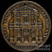 The Opening For Worship Of The Chiesa Del Gesu, Rome [reverse] Art Print