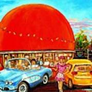 The Orange Julep Montreal Art Print