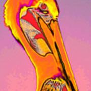 The Orange Pelican Art Print