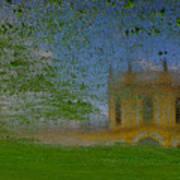 Fairytale Castle On A Meadow. Art Print