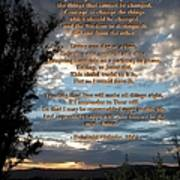 The Original Serenity Prayer Art Print by Glenn McCarthy Art and Photography