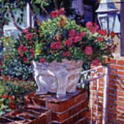 The Ornamental Floral Gate Art Print
