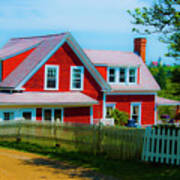 The Other Red House Monhegan Art Print