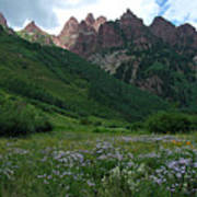 The Other Side Of Maroon Bells 1 Art Print