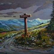 The Paintbrush Trail, Manning Provincial Park, B C Art Print