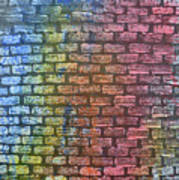 The Painted Brick Wall  Art Print