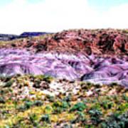The Painted Desert  In Arizona Art Print
