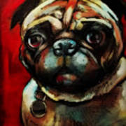 The Painted Pug Art Print