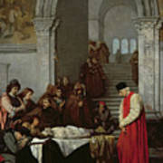 The Painter Luca Signorelli Standing By The Body Of His Rival's Dead Son Art Print