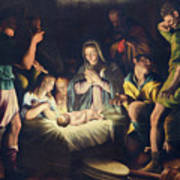 The Painting Of Nativity By Pier Maria Bagnadore Art Print