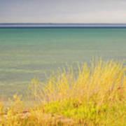 weather ,storm,weather ,clouds ,cloudy ,blue ,skies ,water, marine,beach, marine, cottage, Michigan, Art Print