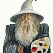 The Painting Wizard Art Print