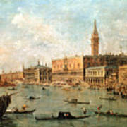 The Palace And The Molo From The Basin Of San Marco Art Print
