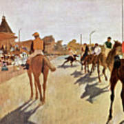 The Parade, Digitally Enhanced Highest Resolution,race Horses In Front Of The Tribune, Edgar Degas Art Print