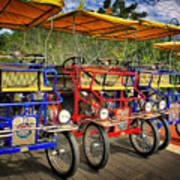 The Park Bikes Art Print