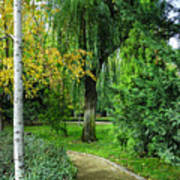 The Park Federico Garcia Lorca Is Situated In The City Of Granada, In Spain. Art Print