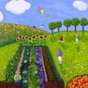 The Park Number 1 Of 3 Art Print by Barbara Esposito