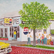 The Park Shoppe Portsmouth Ohio Art Print