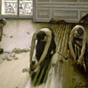 The Parquet Planers - Gustave Caillebotte Art Print