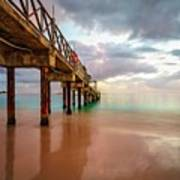 The Pastel Sky And The Jetty Art Print