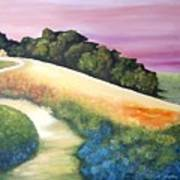 The Path Over The Hill Art Print by Carola Ann-Margret Forsberg