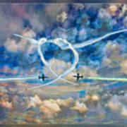 The Patriots Jet Team Art Print