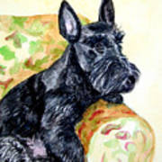 The Perfect Guest - Scottish Terrier Art Print