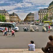 The Perfect View- Avenue De L'opera Paris  Art Print