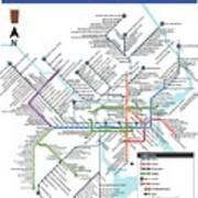 The Philadelphia Pubway Map Art Print