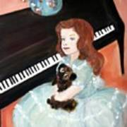 The Pianist And Her Pekinese Art Print