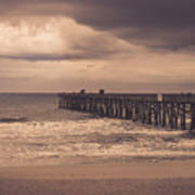 The Pier Before The Storm Art Print