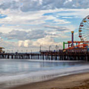 The Pier On A Cloudy Day Art Print