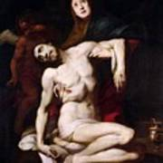 The Pieta Art Print by Daniele Crespi