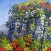 The Pilot - Pilot Mountain Art Print