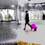 The Pink Bag Art Print