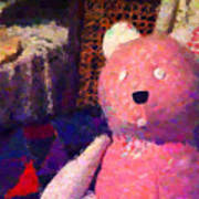 The Pink Bear Art Print