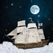 The Pirate Ghost Ship Art Print
