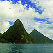 The Pitons Art Print