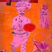 The Pizza  Theos. Art Print