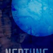 The Planet Neptune Print by Michael Tompsett